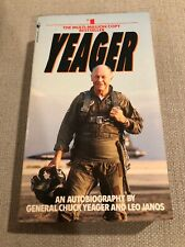 Autographed Chuck Yeager Autobiography 1986 SIGNED Big, Bold Signature Softcover