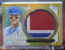 Anthony Rizzo Topps Five Star GOLD Auto Jumbo Patch Card 5/10 Cubs Yankees