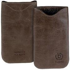 Bugatti Skinny Umber dkl. braun Leder Tasche f Samsung Galaxy Note N7000 i9220