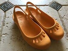 Crocs Orange Mary Jane Slip On Shoes Sz 7