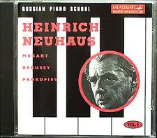 Heinrich NEUHAUS Russian Piano School Vol.2 Prokofiev Mozart Debussy CD