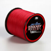 Japanese Strong PE Braided Fishing Line 500M Red Color PE Multifilament 6-100LBS