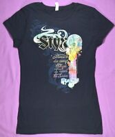 STYX 2012 Tour Concert T-Shirt Womens Beautiful Iridescent Design RARE