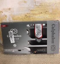 Calphalon Premier Space Saving Hard Anodized Nonstick 2.5 qt Chefs Pan + Lid NIB