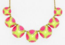 Kate Spade Pinata Park Necklace Exquisite Pave Crystals Pink Yellow Panache