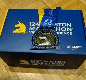 2020 Boston Marathon Medal - Authentic 124th Boston Medal with Ribbon - NEW Box