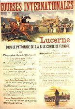 Original Plakat - Courses Internationales Lucerne