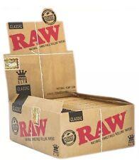 50Packs Raw King Size Slim Rolling Papers Full Box Natural Smoking Rizla Skins😱