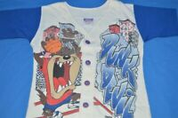 vintage 90s LOONEY TUNES TAZ DUNK DEVIL BASKETBALL JERSEY t-shirt YOUTH SMALL YS