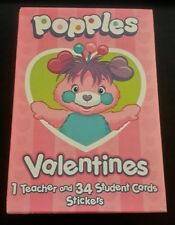 Popples Valentine Cards Nib 2001 35 Cards Stickers American Greetings H99