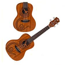 Luna Guitars Peace Concert Ukulele Mahogany  UKE MALU Aquila Strings
