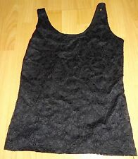Pretty Lacy Black vest polyester top,lined,Size 10, by Kaleidoscope,BNWoT