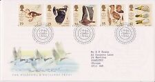 GB ROYAL MAIL FDC FIRST DAY COVER 1996 WILDFOWL WETLANDS STAMP SET BUREAU PMK