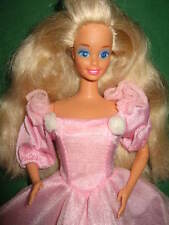 B258-Vieille Sparkle Eyes Barbie #2482 MATTEL 1991 robe rose barbie Label Mattel