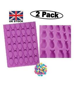 (2 PC) New Fish Design Silicone Chocolate,Baking,Wax,Candy,Soap,Bath 72 Mould