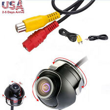 Car Back Reverse 360° CCD HD Camera Rear View Backup Cam 170° Angle Waterproof