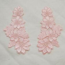 Guipure Lace Applique Motif - 1 Pair - Powder Pink - 15cm - MP05