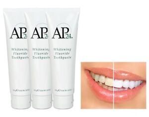 3X Nu Skin AP-24 NuSkin AP24 Whitening Fluoride Toothpaste 110g 4oz AUTHENTIC