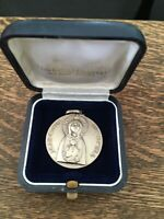 Antique Medal Silver 800 Madonna Nicopeia by Lorioli Fratelli Made in Italy