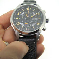 43mm Parnis Sapphire Miyota Quartz Men's Chronograph Watch Stainless Steel Case