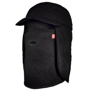 Airhole 5 Panel BLACK Winter Fishing Ski Tech Hat Neck Gaiter Face Mask M/L