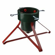 Christmas / Xmas Tree Stand, Metal Frame Heavy Duty - Red & Green