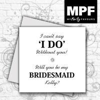 Personalised hand made 'Will you be my Bridesmaid' card - Wedding Keepsake