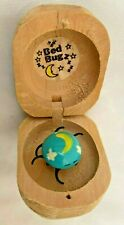 """Boxed 1 3/4"""" Blue Yellow Bed Bug that Wiggles Figurine"""