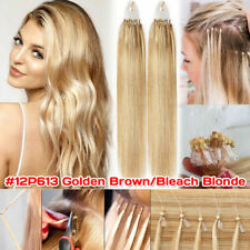 Thick Remy 100% Human Hair Extensions Micro Loop Nano Ring Bead Full Head 15-24