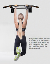 Gym Pull Up Exercise Bar Heavy Duty Ceiling Chin Up Bar Mounted Home Work Out