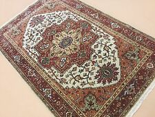 """Persian Oriental Area Rug Serapi Hand Knotted Wool Beige Rust 4'.0"""" X 6'.0"""""""