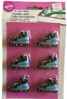 Vintage In line Skate Candles Cake Party Decorations NoS 1993 Wilton