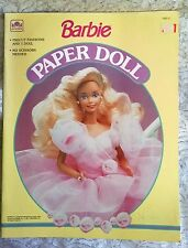 Nine1990's Barbie Paper Doll Golden Books Complete Uncut Perforated Nice