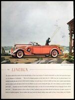 1935 Lincoln Automobile Vintage Advertisement Print Art Car Ad Poster LG91