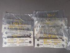 Mixed Lot of 350 Allen Bradley 1/4 watt Carbon Comp Resistors 620, 3000, 510