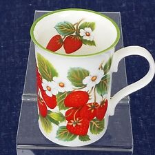 Crown Trent China Strawberry Mug STAFFORDSHIRE ENGLAND Exclusive Design