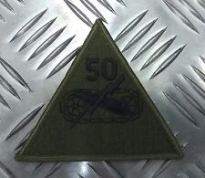 Genuine US Military Insignia Patch 50th Armored Division Coat of Arms - NEW