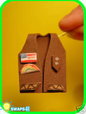 """Brownie Vest in 3-D! """"Girl Scout"""" SWAPS  Craft Kit  by Swaps4Less.com"""