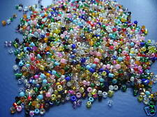 75g Glass seed beads 11/0 - 2mm Rainbow of colours Sewing Crafts Free UK Postage