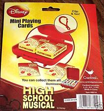 Disney HIGH SCHOOL MUSICAL Playing Cards & Travel Case 2 Mini Decks 3x2 Wildcats