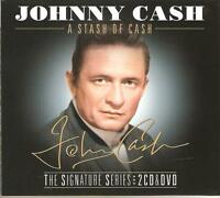 JOHNNY CASH A STASH OF CASH - THE SIGNATURE SERIES 2 CD'S & DVD