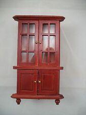 Corner Hutch dollhouse miniature furniture 1/12 scale T3036 wood mahogany finish