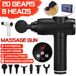 3500mAh 8000r/min LCD Electric Massage Gun 8 Heads Vibration Muscle Sports AU