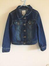 Girls Jean Jacket Size S (5/6) Children's Place Dark Wash Factory Distressed #Z