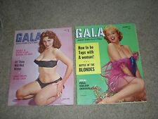 GALA Vintage Adult Mens Magazine PIN-UP Lot of 2 1959 1960 Play Boy Type