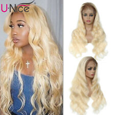 UNice Ombre Blonde 13X4 Lace Front Wigs Brazilian Body Wave Human Hair Wig T4613
