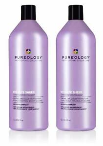 Pureology Hydrate Sheer Conditioner 33 oz (Pack of 2) - NEW