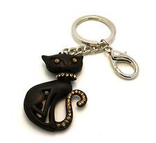 Black Cat KeyChain - Gold Collar