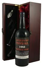 Quinta do Noval Vintage Port 1963 in a gift box with accessories