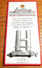 PEWTER LETTER H CAR FORT GIFT LASTING EXPRESSIONS--MADE IN THE USA